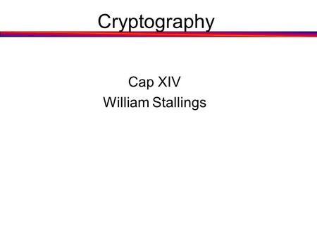 Cap XIV William Stallings