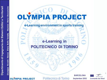 e-Learning environment in sports training