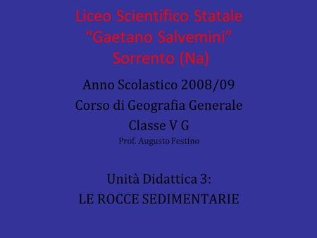 "Liceo Scientifico Statale ""Gaetano Salvemini"" Sorrento (Na)"