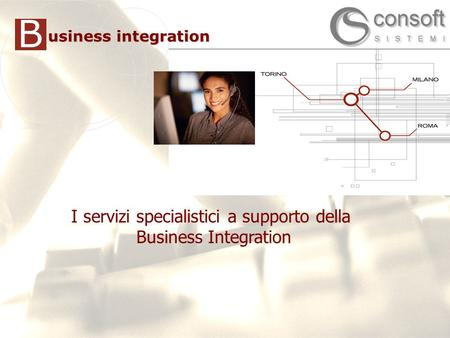 1 1 I servizi specialistici a supporto della Business Integration B usiness integration.