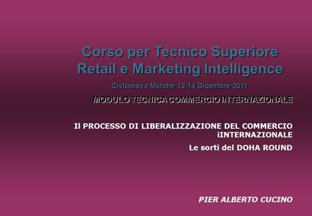 Corso per Tecnico Superiore Retail e Marketing Intelligence