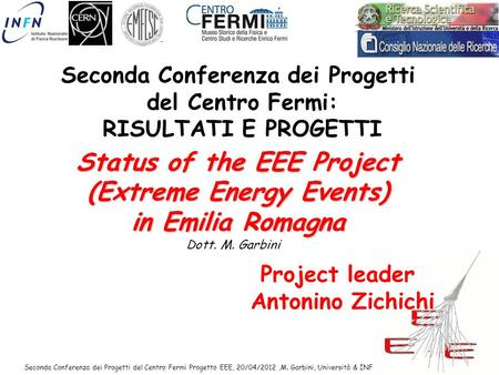 Status of the EEE Project (Extreme Energy Events) in Emilia Romagna