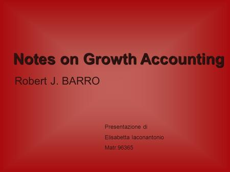 Notes on Growth Accounting