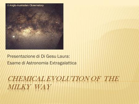 Chemical evolution of the milky way