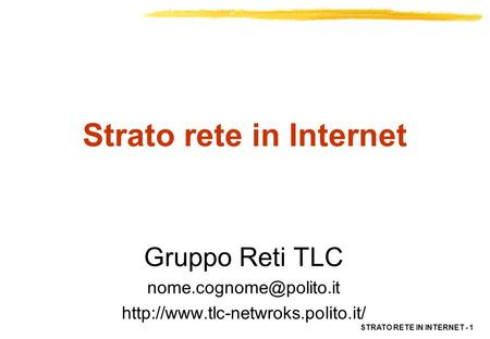 Strato rete in Internet