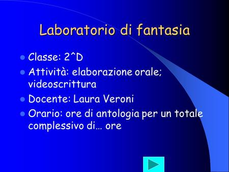 Laboratorio di fantasia