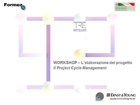 WORKSHOP – Lelaborazione del progetto Il Project Cycle Management.