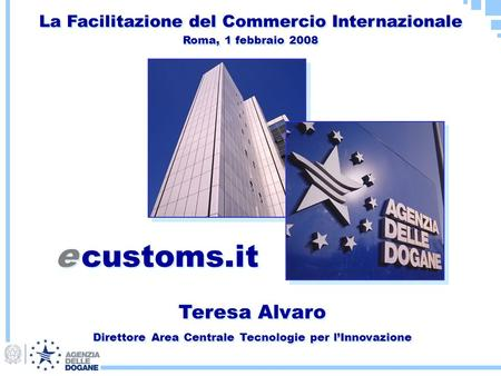 e customs.it Teresa Alvaro