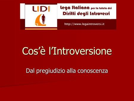 Cos'è l'Introversione