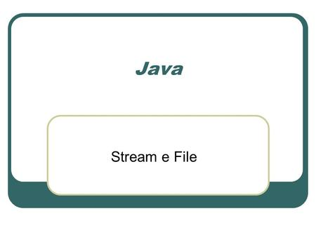 Java Stream e File.