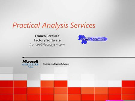 Practical Analysis Services Franco Perduca Factory Software