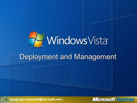 | | Deployment and Management.