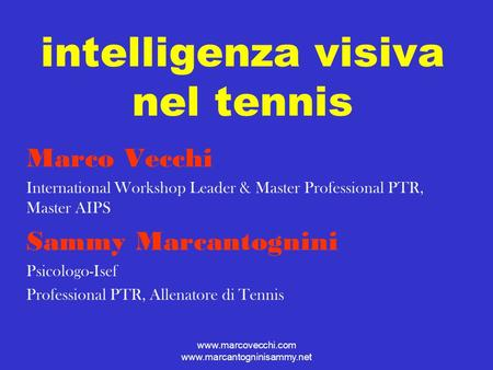 intelligenza visiva nel tennis