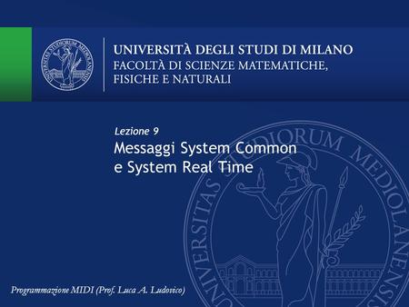 Messaggi System Common e System Real Time