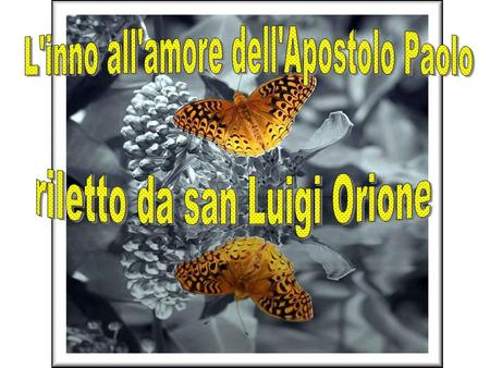 L'inno all'amore dell'Apostolo Paolo