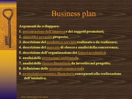 Esempio di business plan palestra