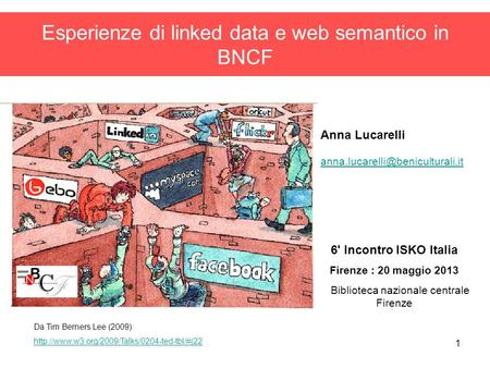 Esperienze di linked data e web semantico in BNCF