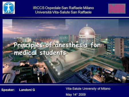 Principles of anesthesia for medical students