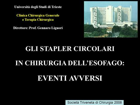 IN CHIRURGIA DELL'ESOFAGO: