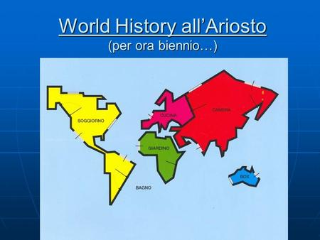 World History all'Ariosto (per ora biennio…)