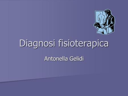 Diagnosi fisioterapica