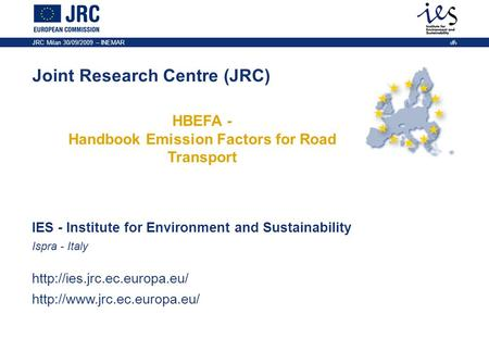 HBEFA - Handbook Emission Factors for Road Transport