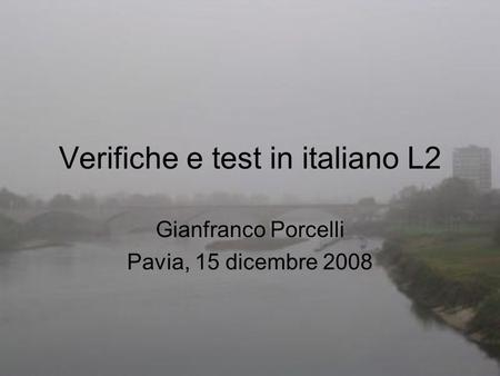 Verifiche e test in italiano L2