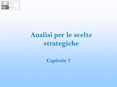 Analisi per le scelte strategiche