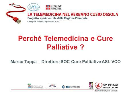 Perché Telemedicina e Cure Palliative ?