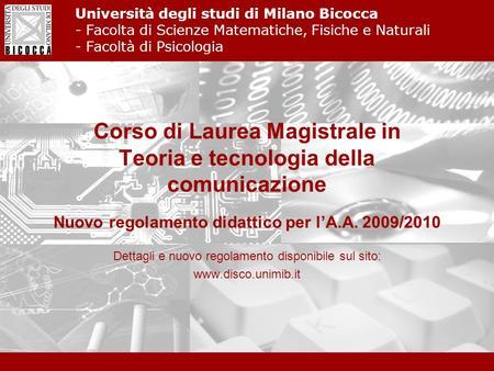 Scienza dei materiali universit degli studi di milano for Design della comunicazione universita