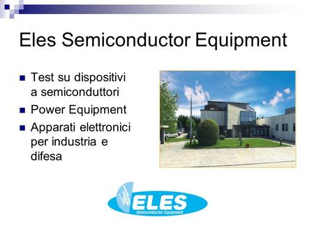 Eles Semiconductor Equipment
