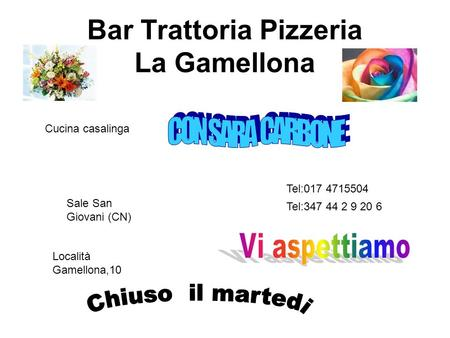 Bar Trattoria Pizzeria La Gamellona