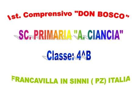 Ist. Comprensivo DON BOSCO