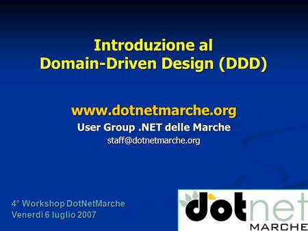 Introduzione al Domain-Driven Design (DDD)