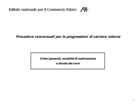 Procedure concorsuali per le progressioni di carriera interne