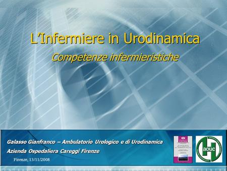 L'Infermiere in Urodinamica