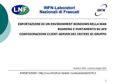 ESPORTAZIONE DI UN ENVIRONMENT WINDOWS NELLA WAN