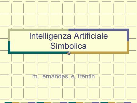 Intelligenza Artificiale Simbolica