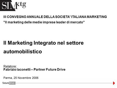 Il Marketing Integrato nel settore automobilistico
