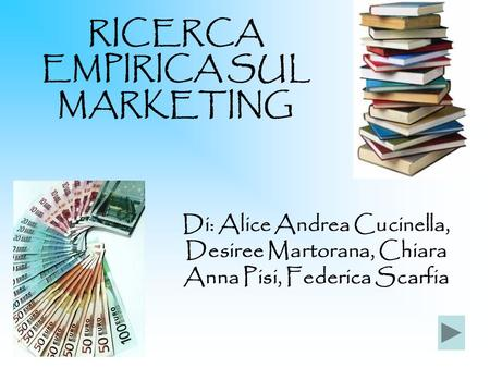 RICERCA EMPIRICA SUL MARKETING Di: Alice Andrea Cucinella, Desiree Martorana, Chiara Anna Pisi, Federica Scarfia.