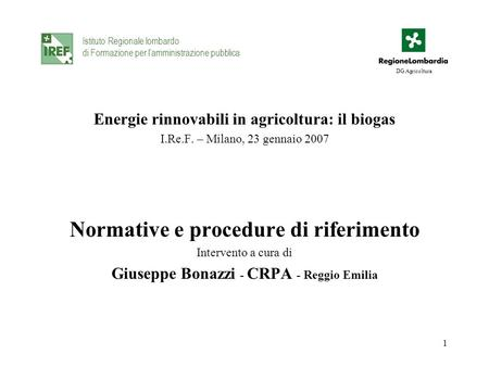 Normative e procedure di riferimento