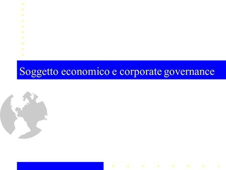 Soggetto economico e corporate governance