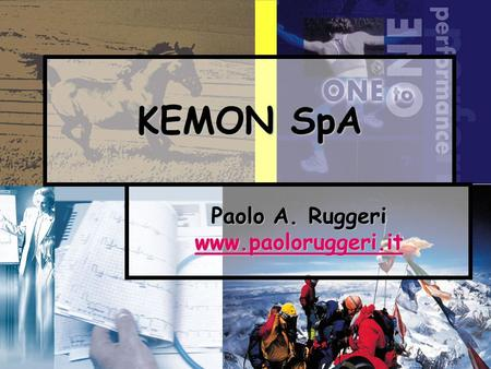 1 KEMON SpA Paolo A. Ruggeri www.paoloruggeri.it.