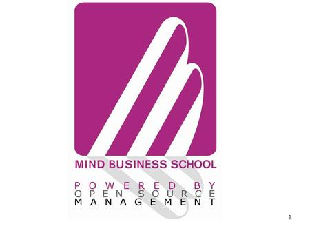 1. 2 Cambio di paradigma 3 MIND BUSINESS SCHOOL I FONDAMENTALI.