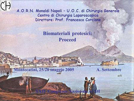 Biomateriali protesici: Proceed