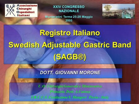 Registro Italiano Swedish Adjustable Gastric Band (SAGB®)