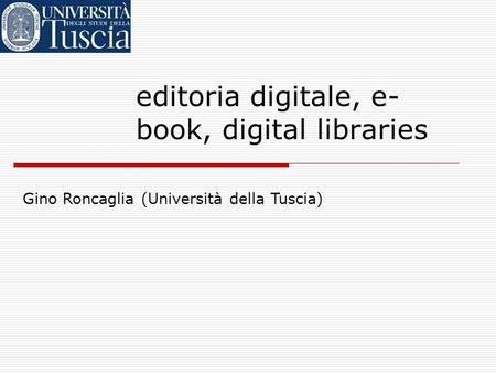 editoria digitale, e-book, digital libraries