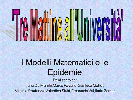 'Tre Mattine all'Università'