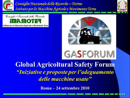 Global Agricoltural Safety Forum