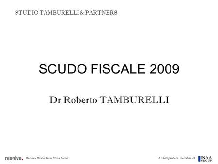 STUDIO TAMBURELLI & PARTNERS